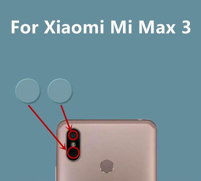 2 Pcs Kamera Pelindung Layar Kaca untuk Xiaomi Mi Max 3 Kembali Lensa Kamera Lapisan Pelindung