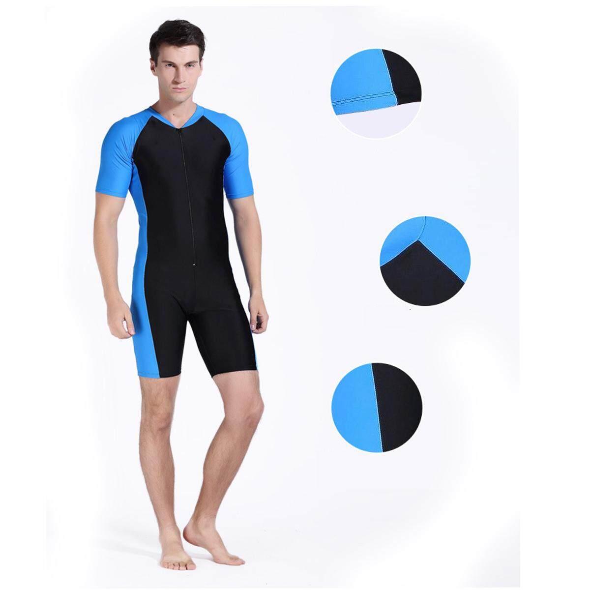 Mens Stretch Short Wetsuit Surf Swim Diving Zipper Wet Suit Quick-Drying S-Xxl By Audew.
