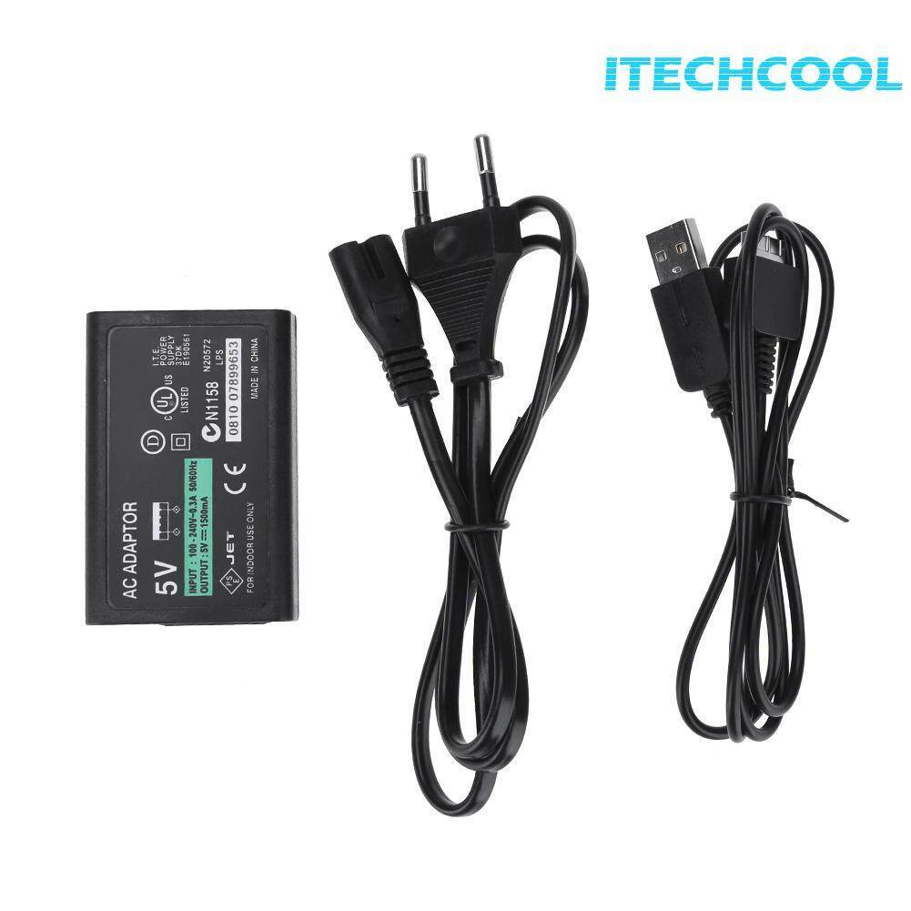 High Quality AC Power Adapter Charger for SONY PSV1000 Game Console with Cable(Black)-UK