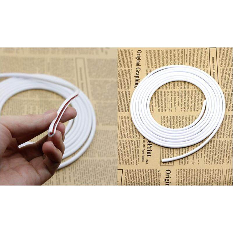Car Edge Trim Rubber Seal Guard Strip White Color (20 Meter)