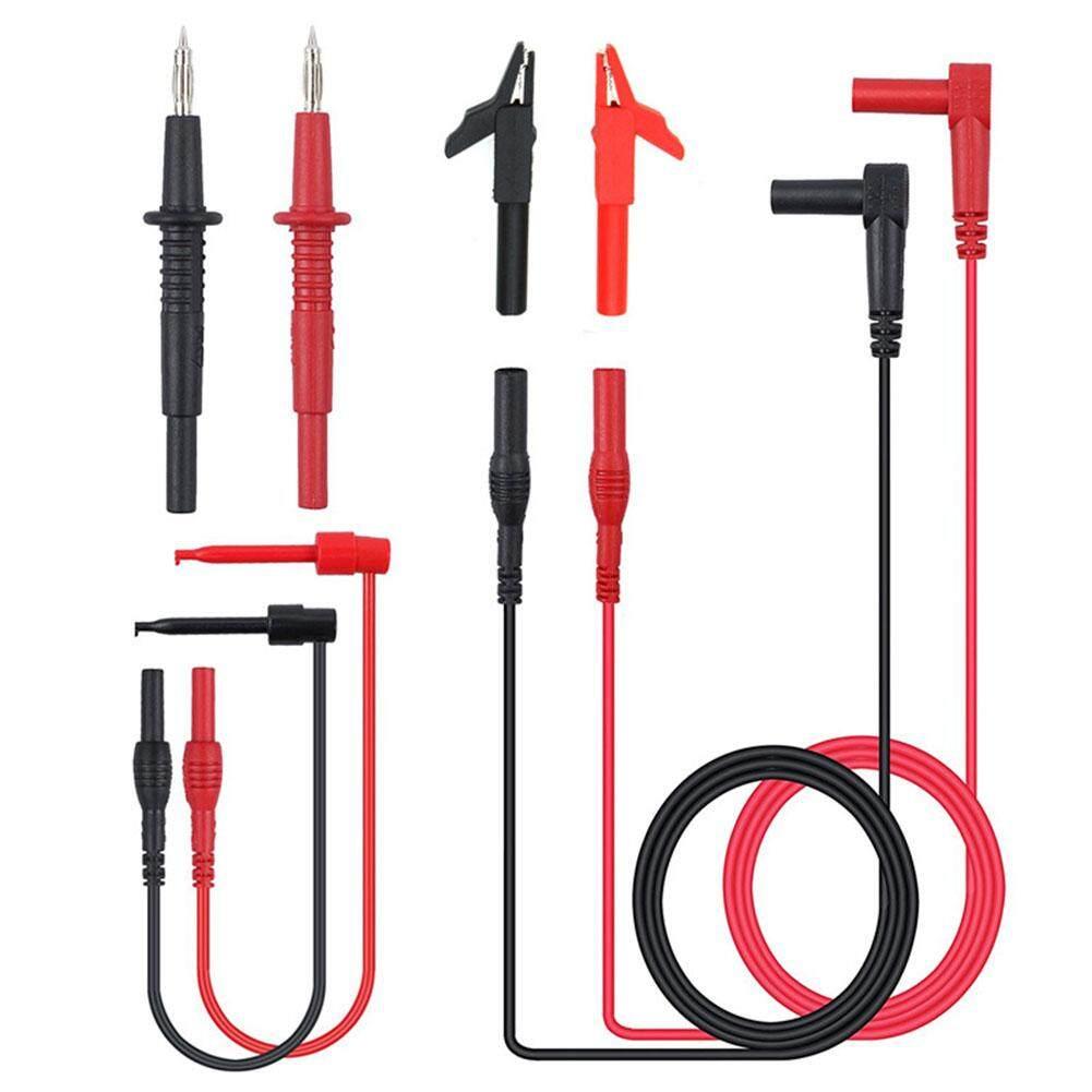 Yunmiao 8 Pcs Multifungsi Elektronik Profesional Probe Test Kabel Tembaga Klip Multimeter Digital Kawat Aksesori Kit Spesifikasi: 8 Pcs