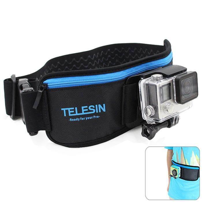 TELESIN Dây Đeo Thắt Lưng Dây Gắn cho GoPro Hero 3/3 +/4/Xiaomi Yi/SJCAM SJ4000/SJ5000 Camera Hành Động ĐEN