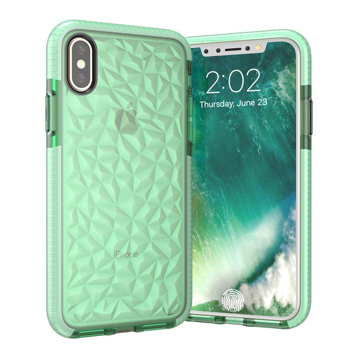 Features Original Spigen Iphone X Crystal Shell Clear Back Panel Case Liquid Antishock Tpu Cover Casing