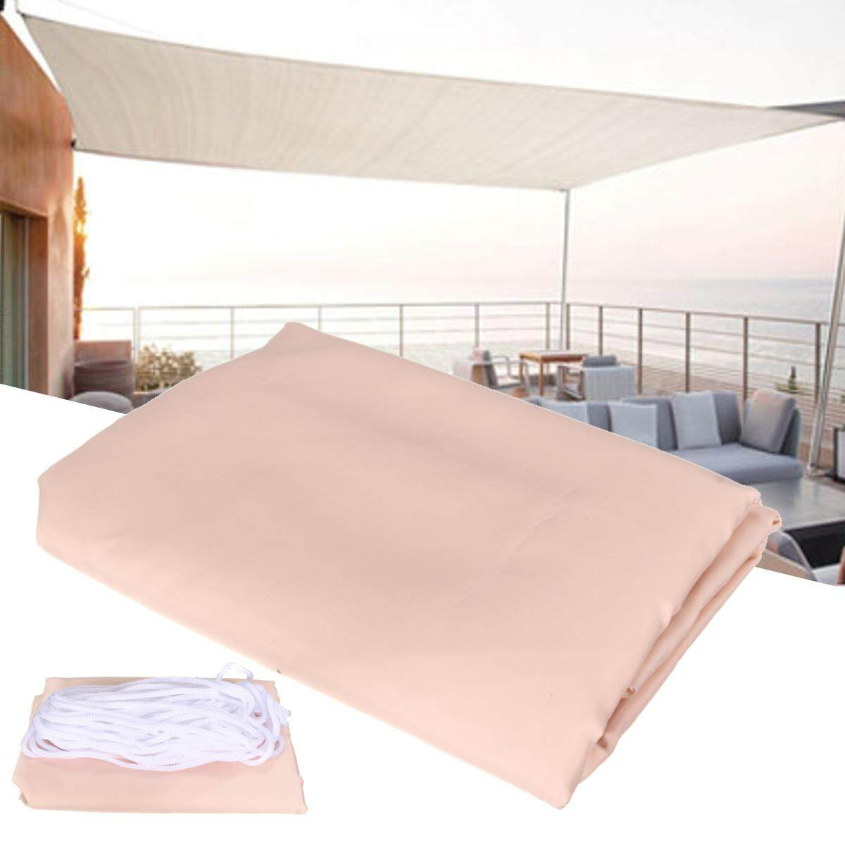 OUTDOOR TOP SUN ShADE SAIL SHRLTER GARDEN CAR COVER AWNING CANOPY PATIO 2.5X2.5M