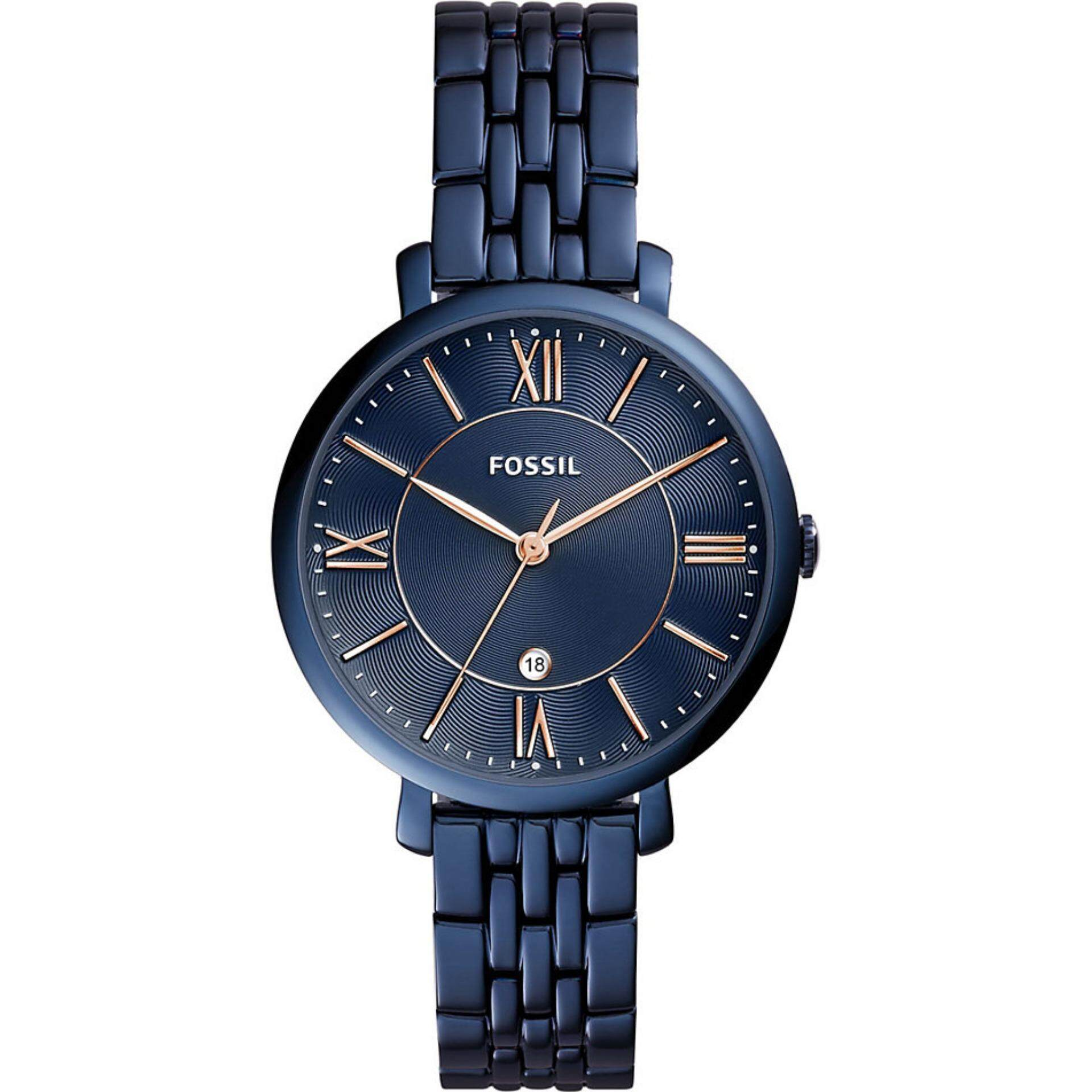 Fossil Watches Price In Malaysia Best Lazada Jam Tangan Automatic Brown Leather Me3027 Womens Jacqueline Blue Dial Rose Gold Hand Watch Es4094