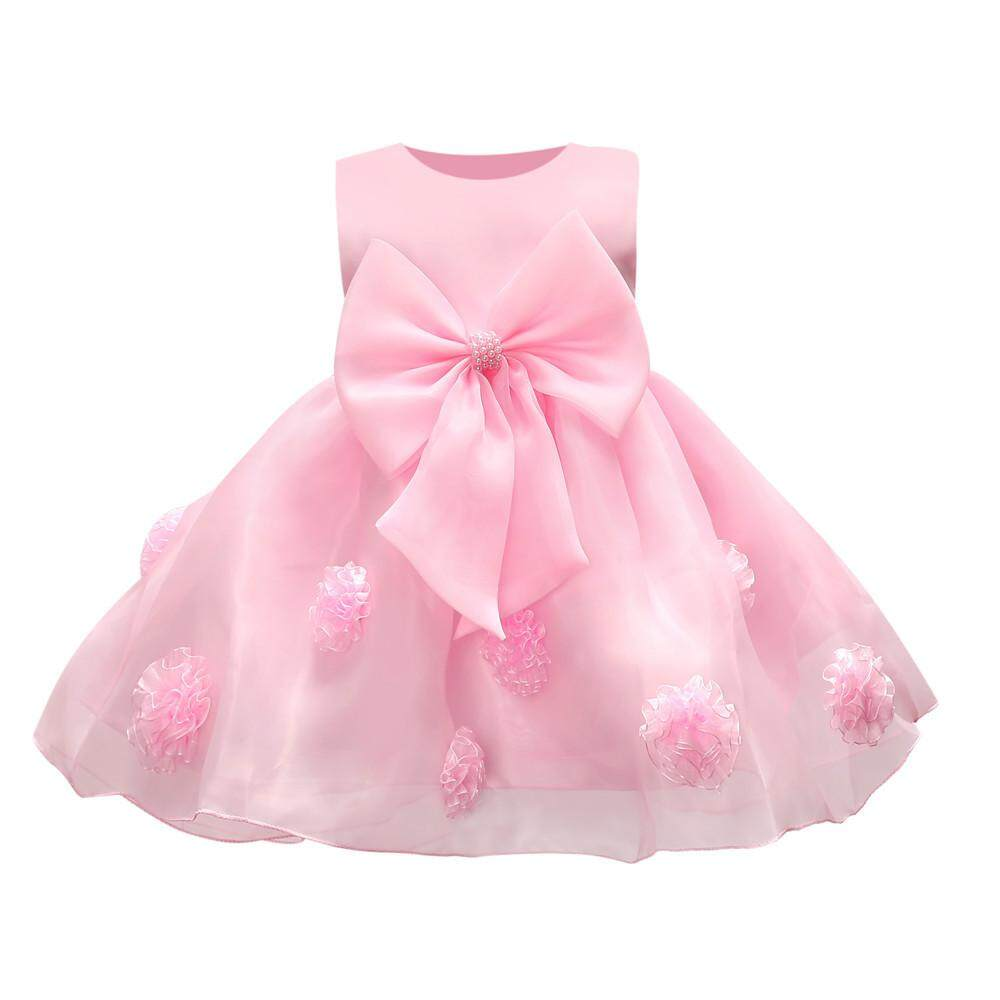 Teresastore Flower Baby Girl Princess Bridesmaid Pageant Gown Birthday Party Wedding Dress