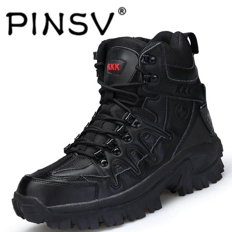 Pinsv รองเท้าแฟชั่นสบายและสะดวกสองด้านกำมะหยี่ Top Army Boot Solide และ Beatutiful เย็บทนดัด Non - Slip สวมใส่แต่เพียงผู้เดียว By Pinsv.