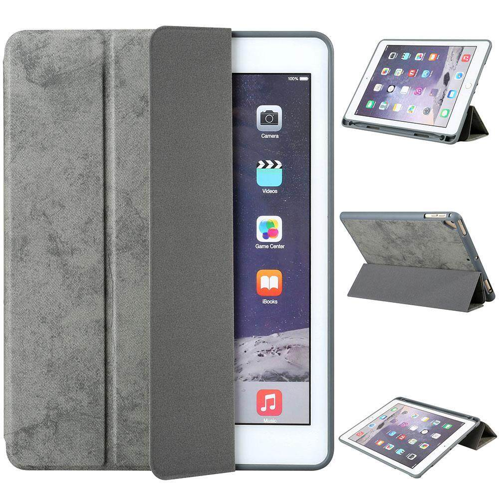 Discount Pawaca New Ipad 9 7 Case 2018 With Pencil Holder Flexible Soft Tpu 6Th Generation Case Ultra Slim Lightweight Trifold Stand Folio Smart Cover For The New 9 7 Inch Apple Ipad 2018 Only Grey Pawaca