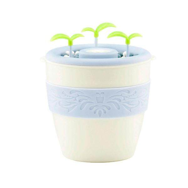 leegoal Office Humidifier, 200ml Anion Potted Plant Diffuser Ultrasanic Cool Mist Air Purifier, Cool Mist Essential Oil Mixture Moisture For Office Home Bedroom Cyan Singapore