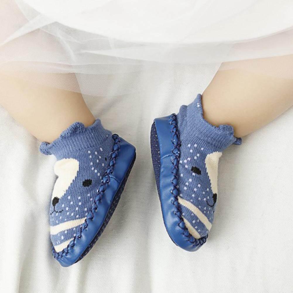 Veecome Bayi Balita Anti-Slip Kaus Kaki Lantai Kaos Kaki Katun Sepatu  Belajar Berjalan Kaus 1c951c95ef