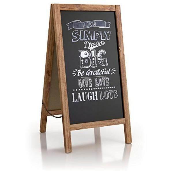 SPRINGROSE Large Vintage Sandwich Chalk Board 40″ x 20″: Rustic Wood A-