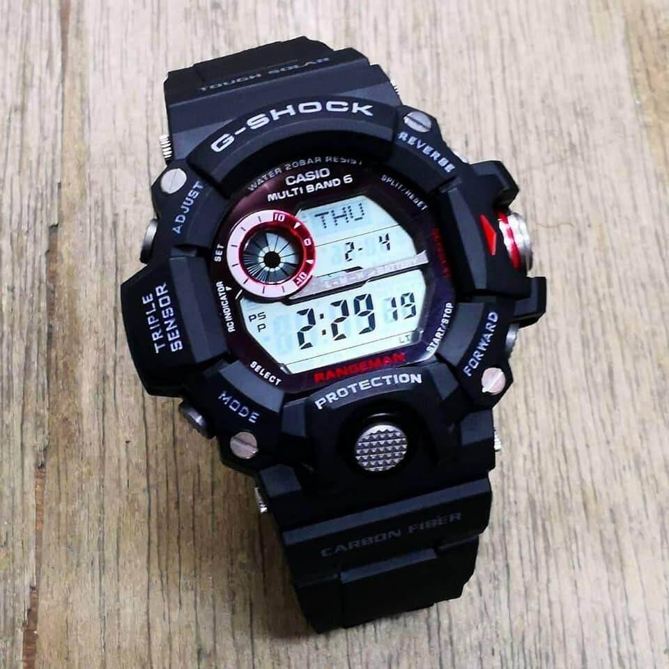 Fitur Rangeman Gw9400 Watch Autolight Compass Temp Gred Aaa Black Gshock Original Gw 9400 1adr Color