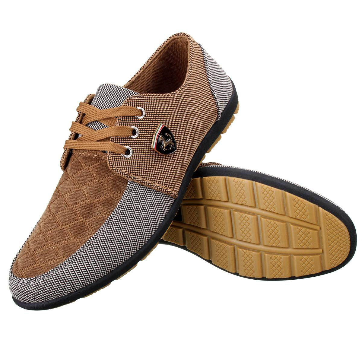 New Mens Suede Slip On Driving Moccasin Loafer Breathable Casual Shoes brown  - abc00d9ea4