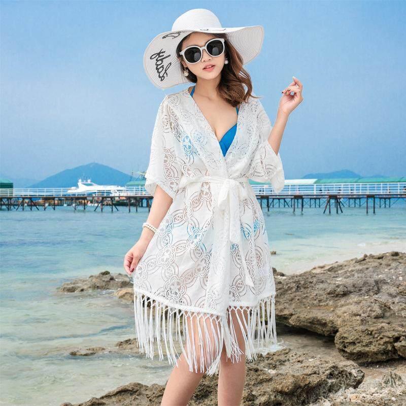 Perlindungan Matahari Pakaian Rumbai Kecil Selendang Jaket Tipis AC Kemeja Di Luar Cardigan-Intl