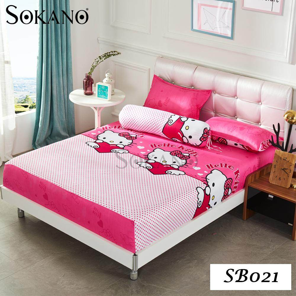 SOKANO Cartoon Themed 4 in 1 Premium Fitted Bedsheet Set
