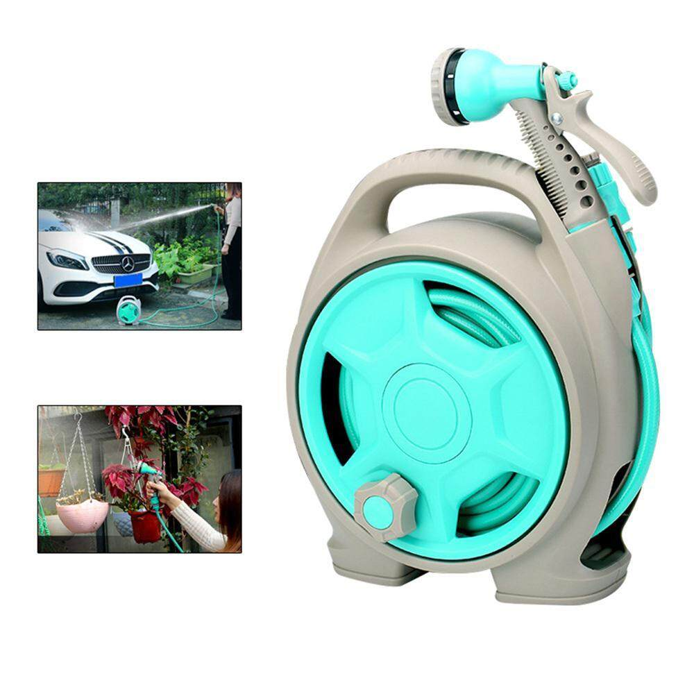 Wincoo Water Hose Reel,Automatic Garden Hose Reel Retractable And Spray Nozzle with 13m Hose for Car Wash Watering Shower Pet