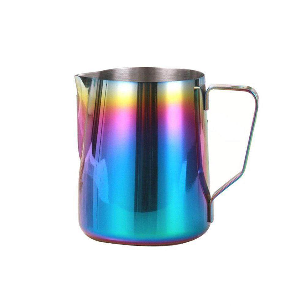 Kobwa Milk Frothing Pitcher Stainless Steel - BEMINH Rainbow Color Custom Coffee Mugs - Milk Steaming