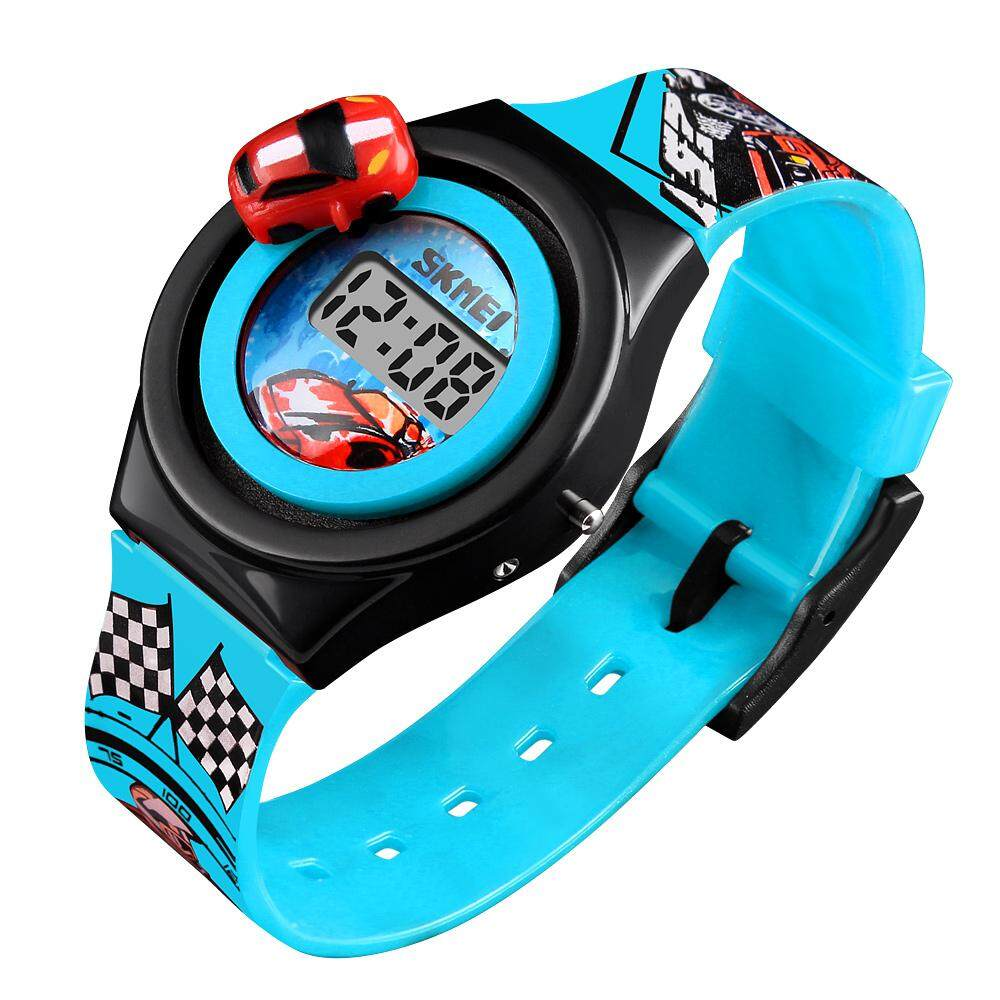 Nơi bán SKMEI 1376 Kids Watch Creative Cartoon Car Children Watches For Boys Girls Electronic LCD Digital Wristwatches - intl