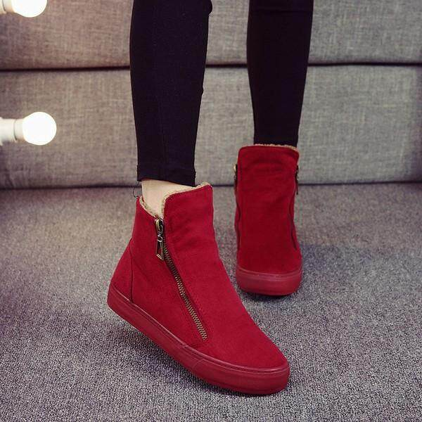 M.general Winter Warm Cotton Zipper Soft Ankle Boots For Women By Glimmer.