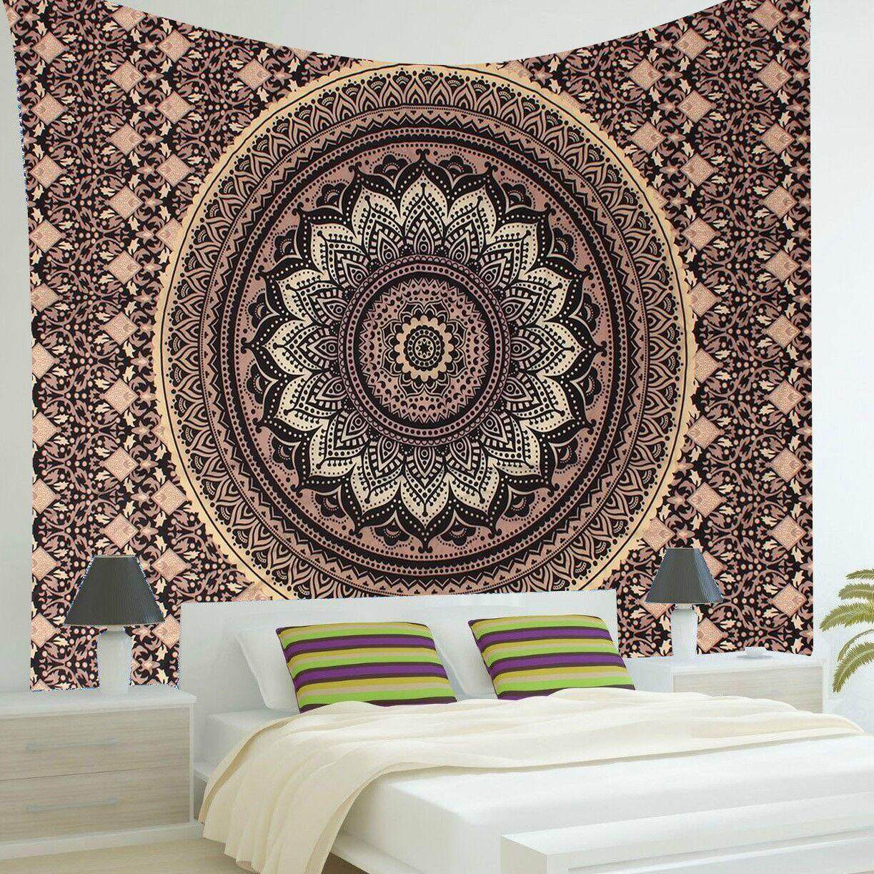 Home tapestries hangings buy home tapestries hangings at best indian ombre mandala hippie gold black wall hanging tapestry bedspread decor gumiabroncs Choice Image