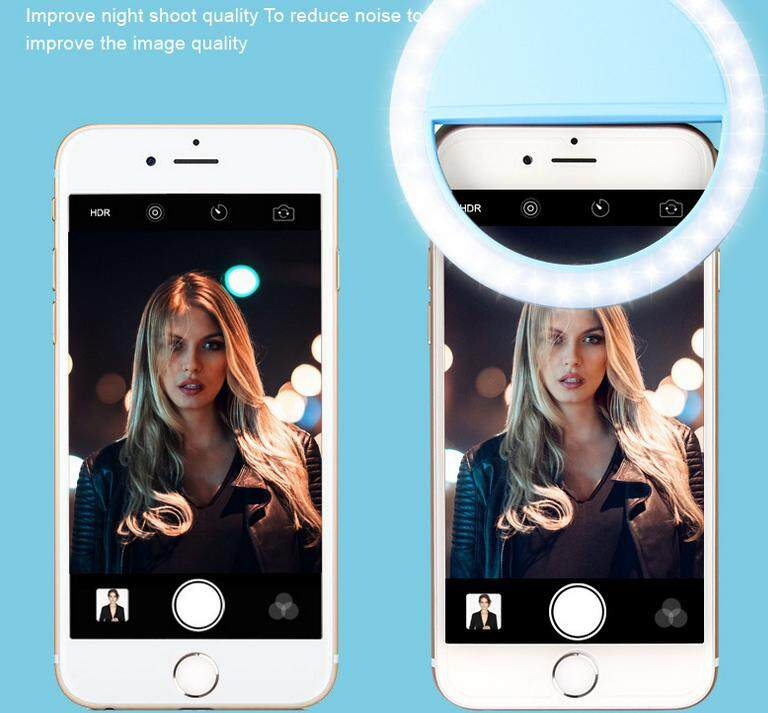 Detail Gambar Selfie Portable LED Ring Fill Light Camera Photography For IPhone /Android Phone - intl Terbaru