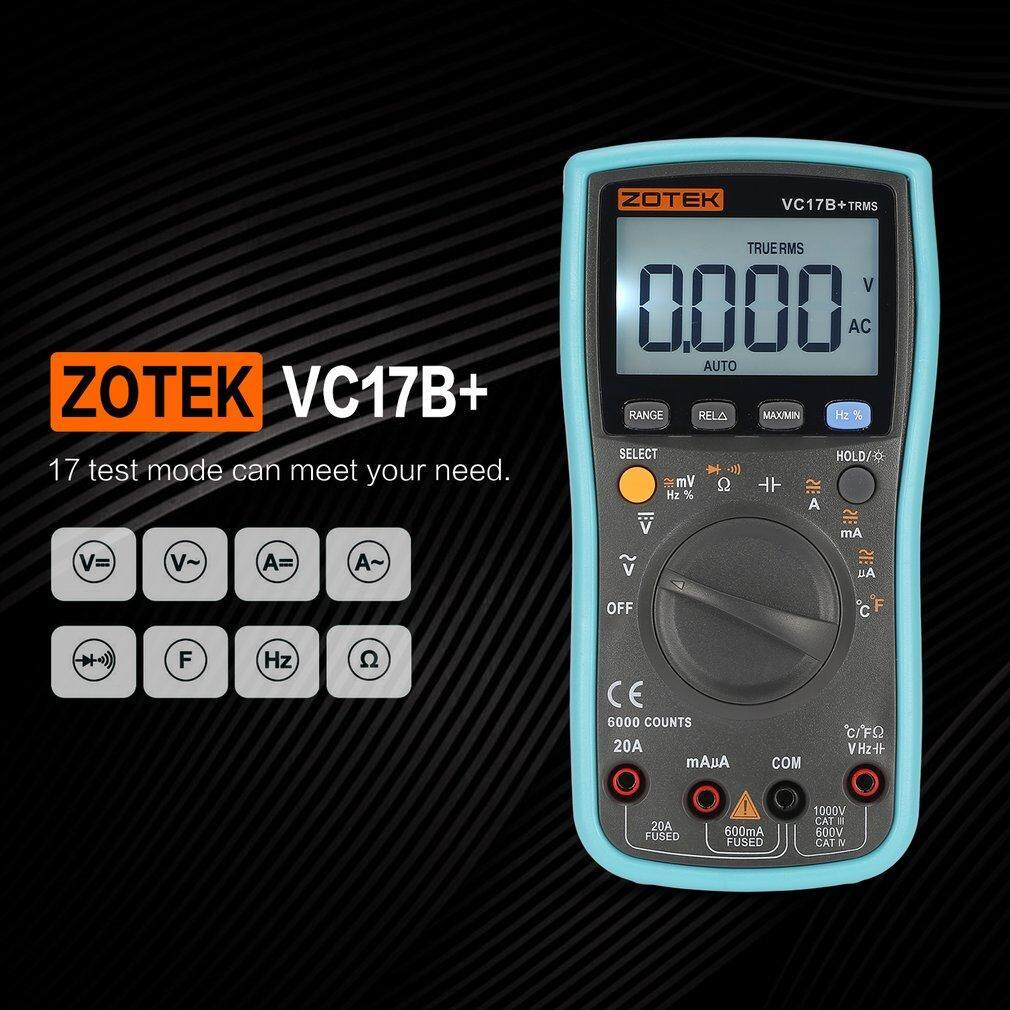 ZOTEK VC17B+ 6000 Counts True-RMS Digital Multimeter Auto Range AC/DC Meter -