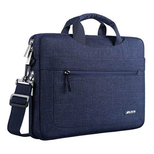 Mosiso Polyester Messenger Laptop Shoulder Bag for 11.6-13.3 Inch MacBook Air, MacBook Pro, Notebook Computer, Protective Briefcase Carrying Case with Adjustable Depth at Bottom, Navy Blue Malaysia