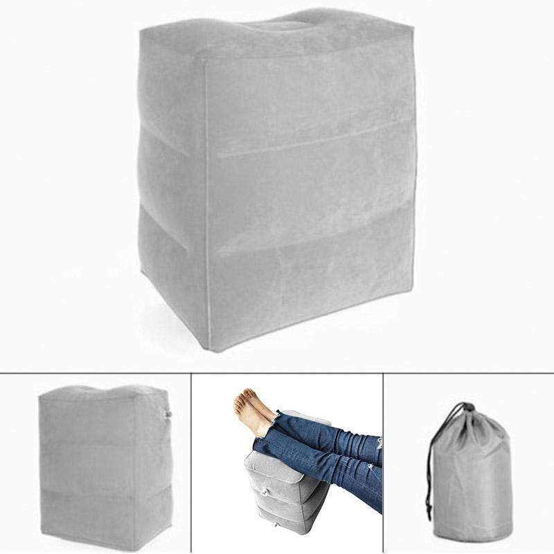 Relax X Due.Abh Inflatable Foot Rest Pillow Portable Cushion Footrest Mat Travel Leg Relax Pad