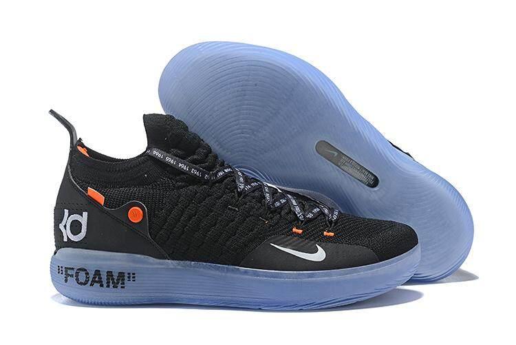 ... Nike Resmi Kevin Durant 11 Orange Hitam Diskon Pria Basketaball Sepatu  Kd - 5 094e3f3a60