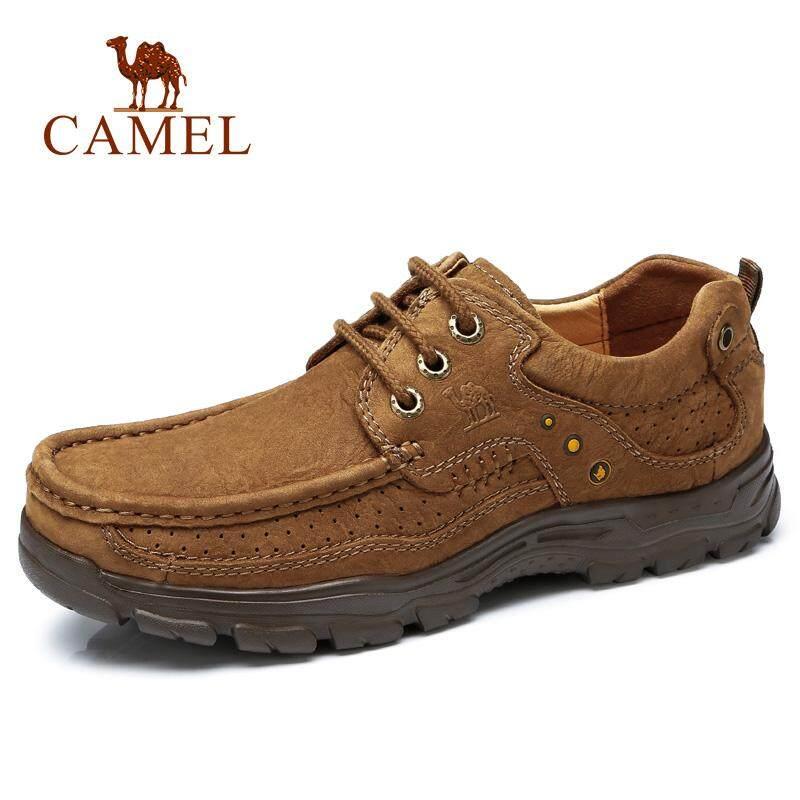 Camel Sepatu Pria Musim Gugur Kulit Non-Slip Sepatu Kasual Pria Kulit Sepatu  dengan Putaran ef867d436b