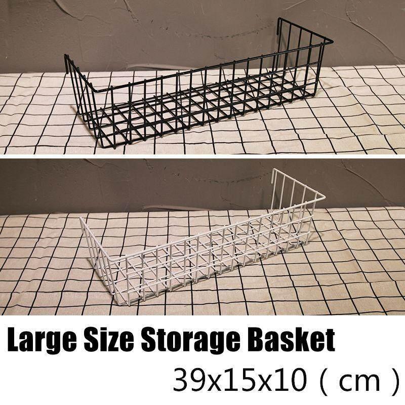 Nordic mesh, photo wall, photo frame, wall iron, large basket#Black