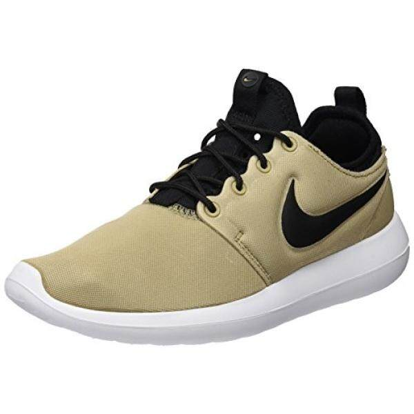 30d7799bc75d NIKE Womens Roshe Two Khaki Black Black White Running Shoe 7 Women US