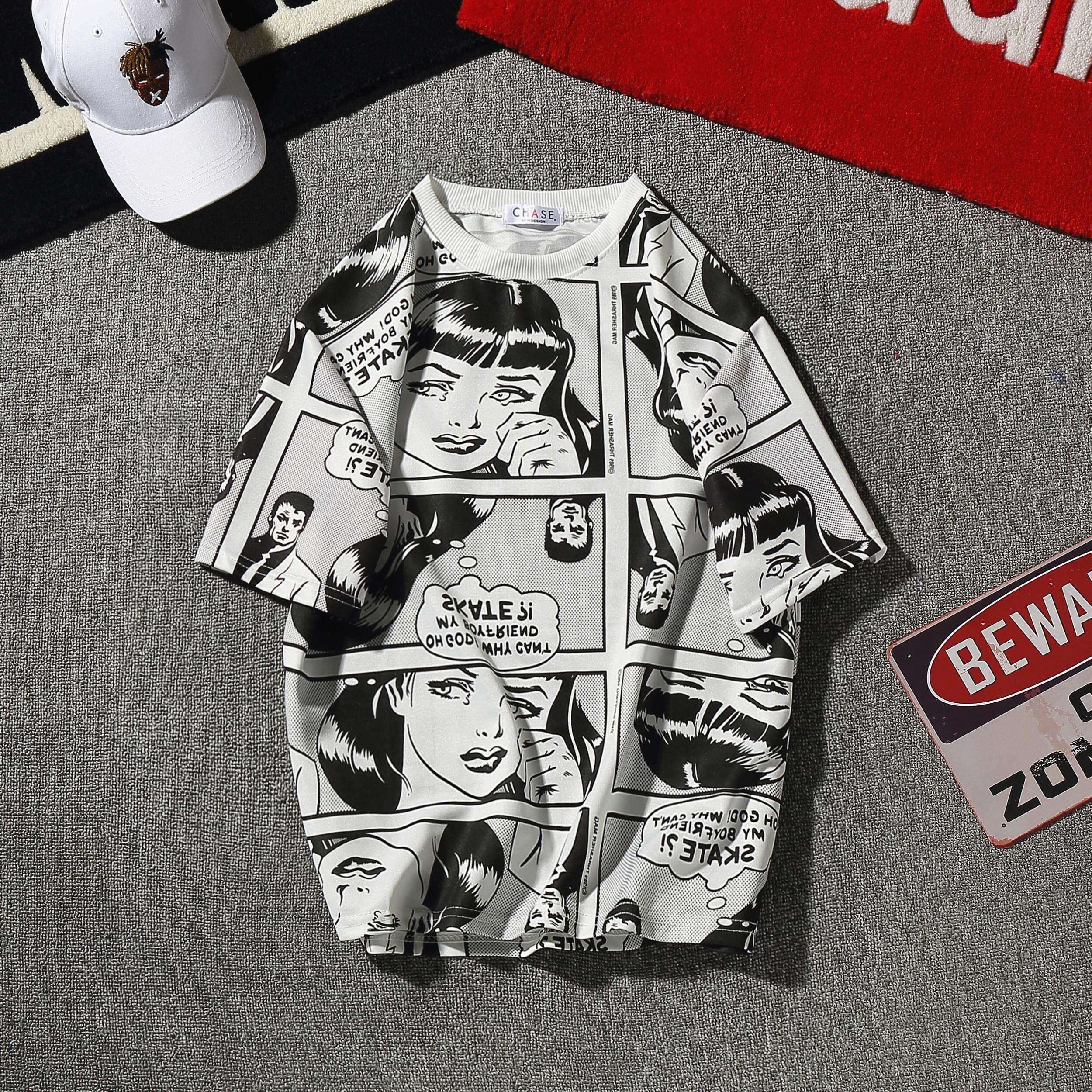 Celana Panjang Pendek Olahraga Pria Strit Leging Longpants Manset Musim Panas Komik Baju Kaos Lengan Manusia Sosial Tren 1 Paket