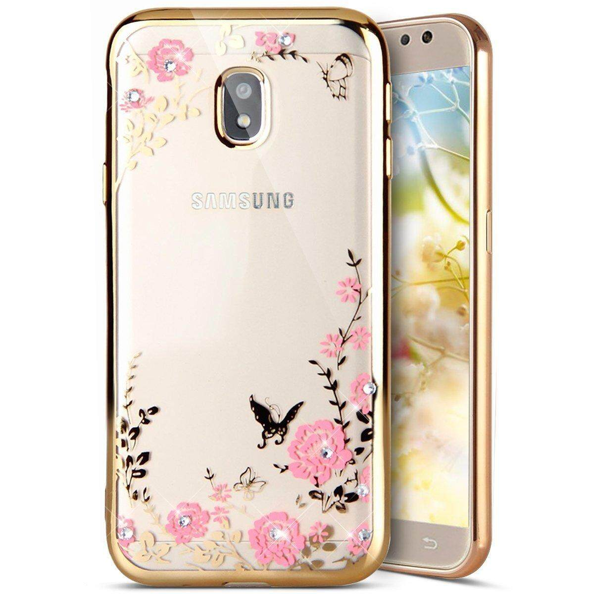 Features For Samsung Galaxy J4 2018 J400 Clear Soft Butterfly Floral