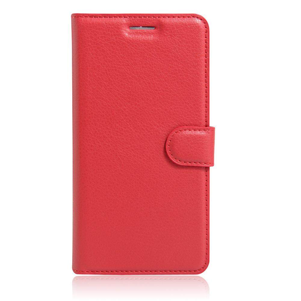 PU Leather Flip Cover Wallet Card Holder Case For Alcatel idol S / OT6034R - intl