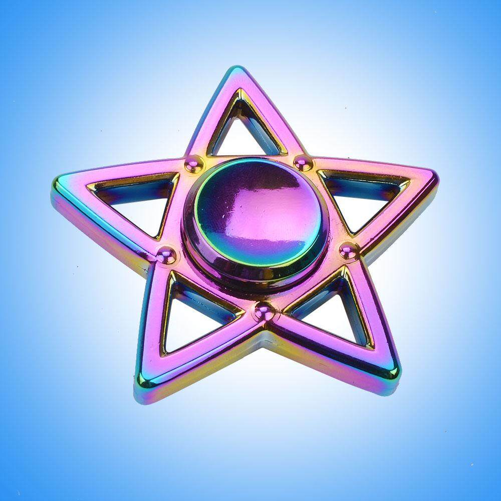 Aukey Store Spinner Rainbow Alloy Five-Pointed Star Type Hand .