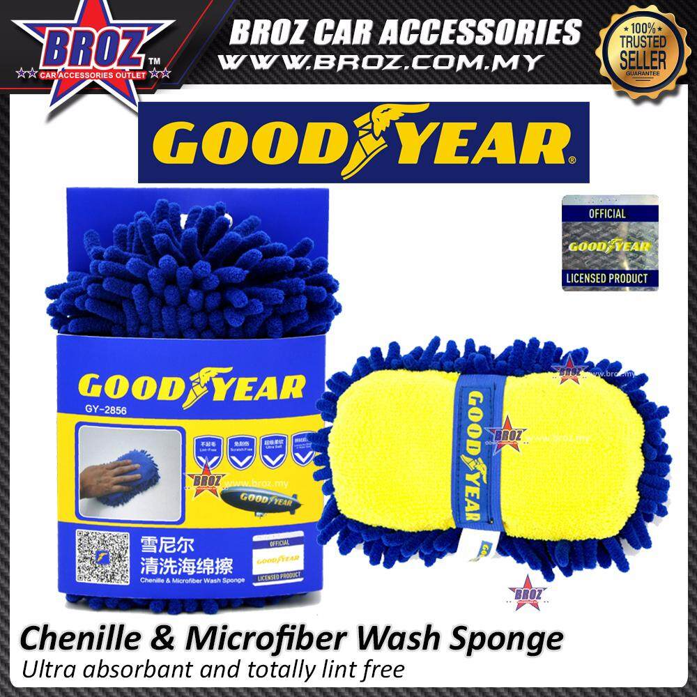 Broz Goodyear GY-2856 Chenille and Microfiber Car Wash Sponge