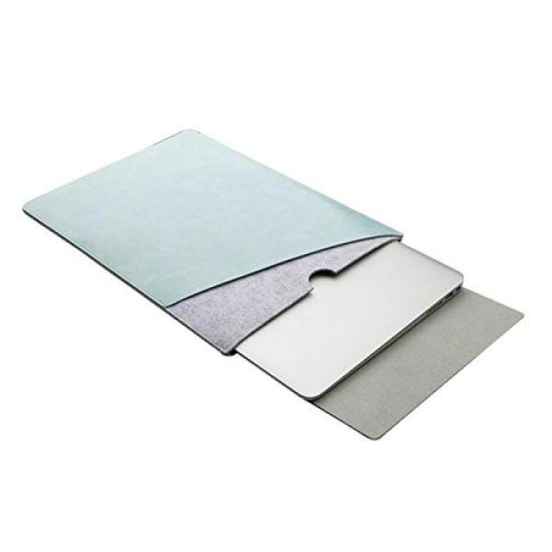 ELEOPTION Ultra Leather Macbook Sleeve Mircrofiber Laptop Notebook Carry Bag Case With a Flip Pad - intl