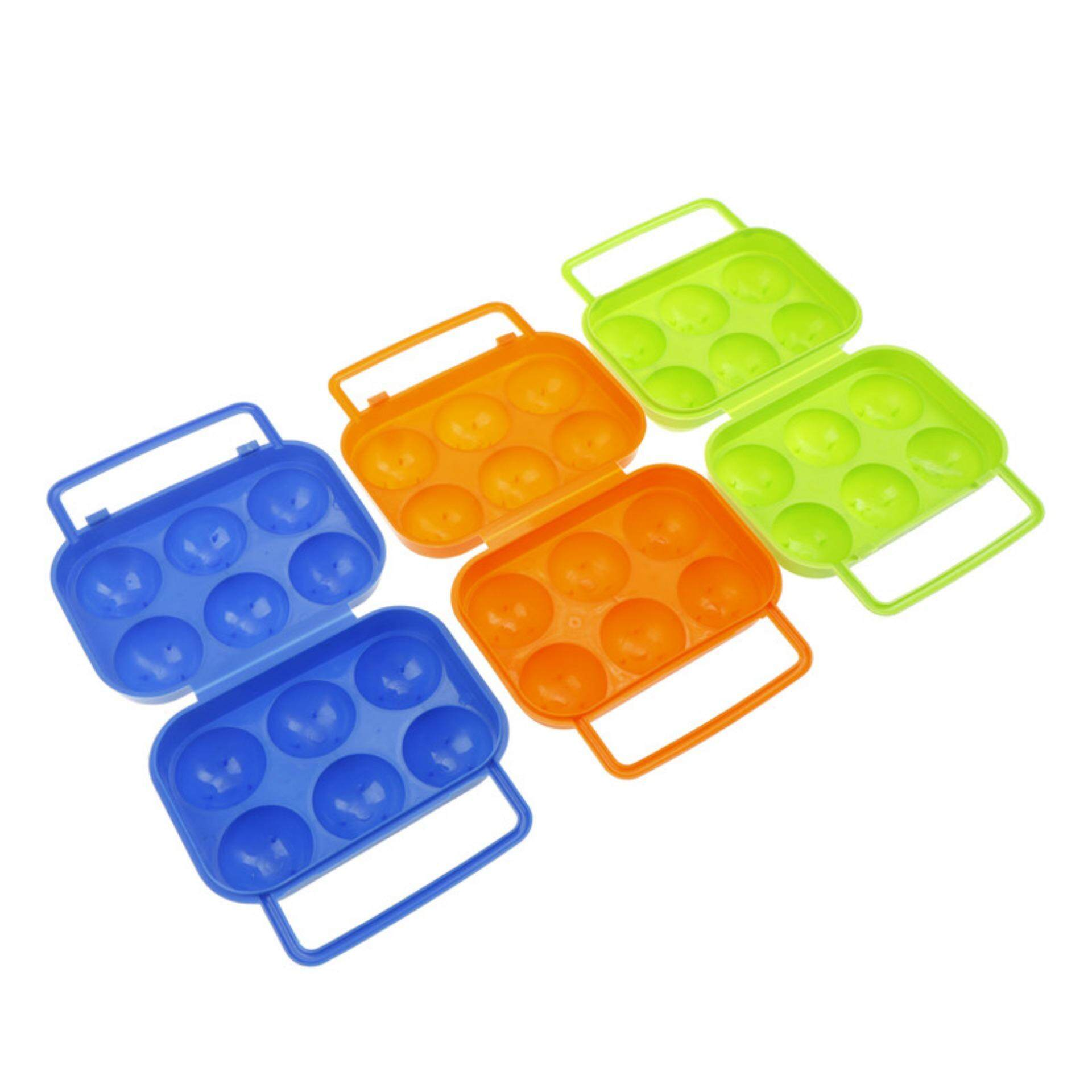 Female Warrior Refrigerator Egg Storage Folding Box 6 Case Outdoor Portable Container Tray .
