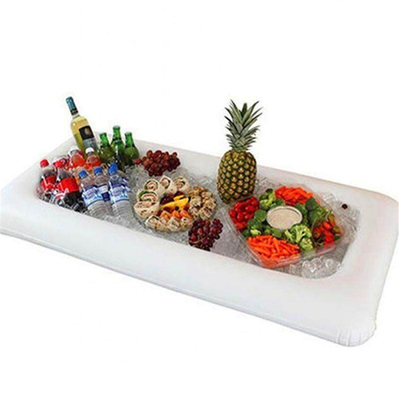 Inflatable Salad Bar Buffet Ice Bucket Outdoor Swimming Pool Decoration Food Supplies with Drain Plug
