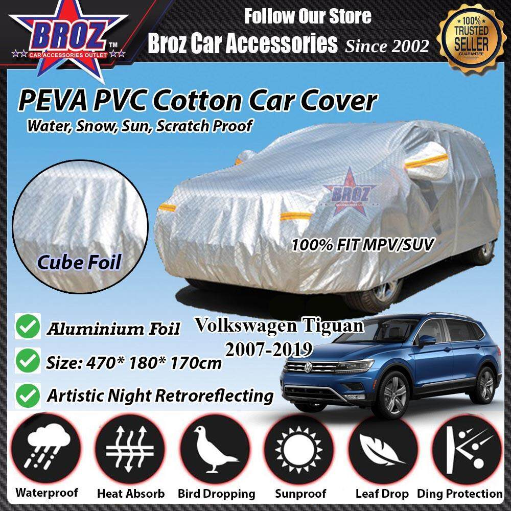 Tiguan Car Body Cover PEVA PVC Cotton Aluminium Foil Double Layers - MPV