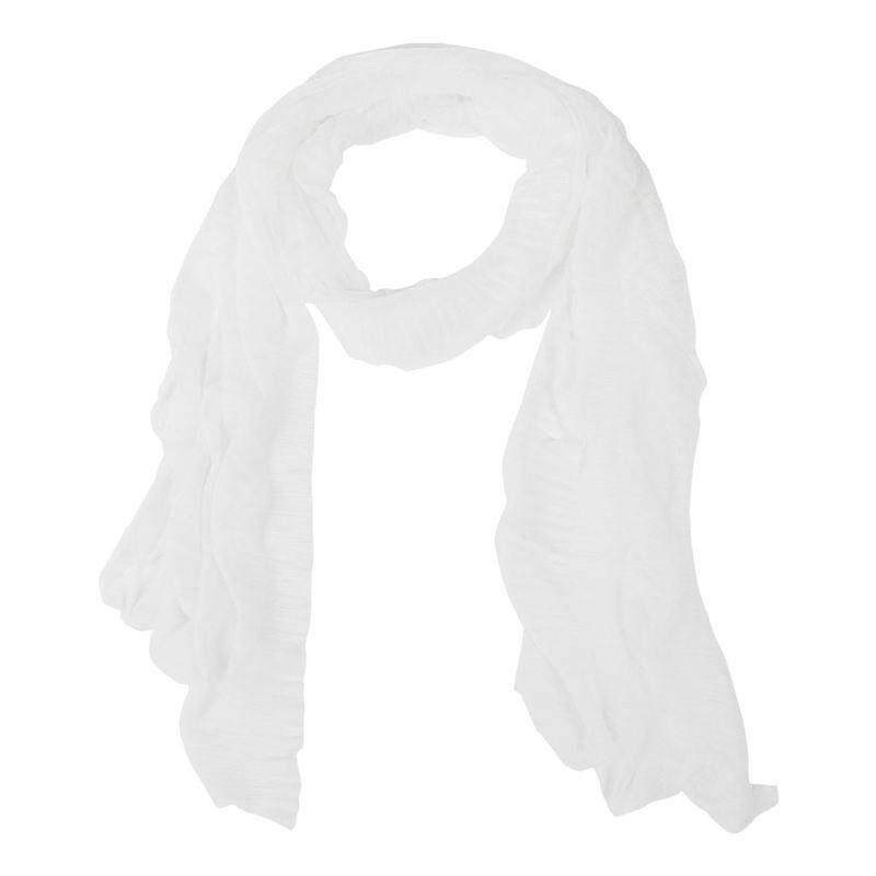 68f0aa192 Women's Fashion Candy Colour Soft Scarf Wrap Shawl Stole Creamy White