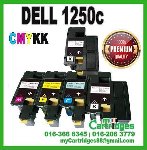 AAA DELL 1250c CYMKK (5 Units) Premium Compatible Toner Cartridge