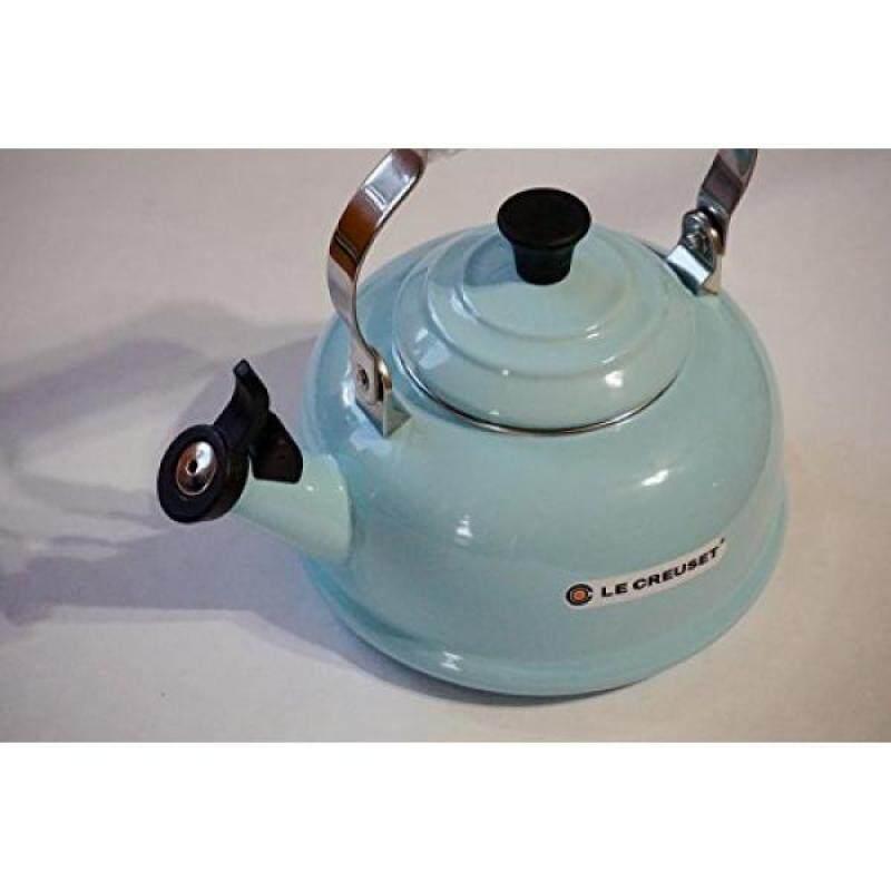 Teakettles Le Creuset Enamel-on-Steel Whistling 1.7 Quart Teakettle, Sky BlueTupperware - intl Singapore