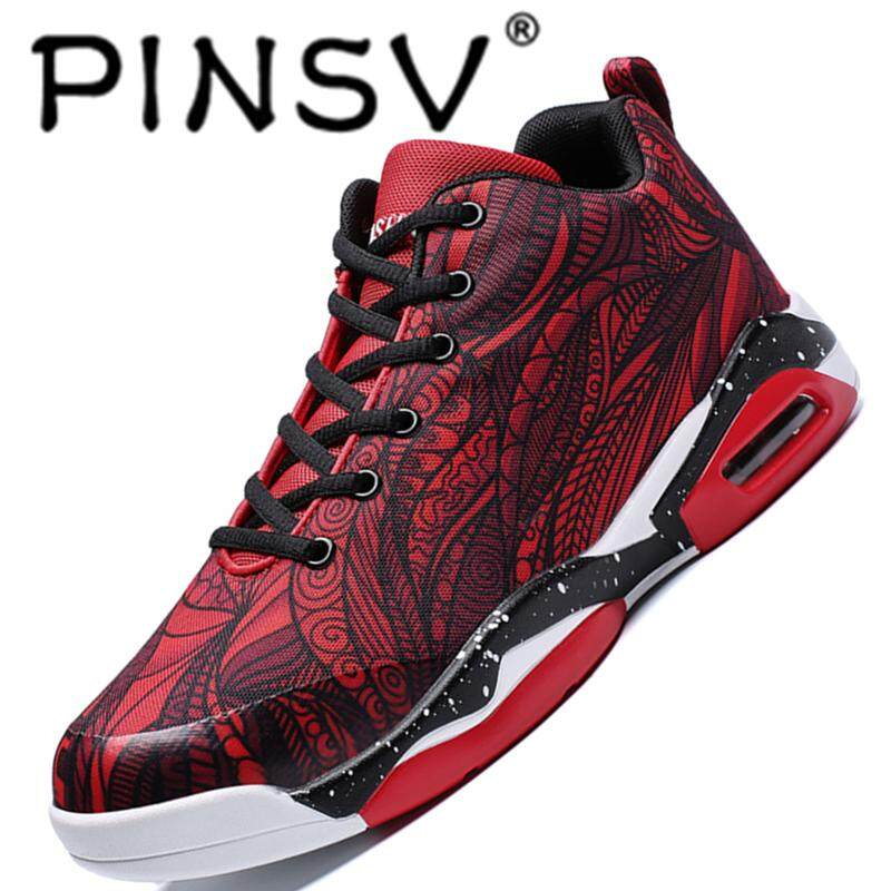 Pinsv Shoe Fashion Soft And Comfortable Couples Basketball Shoes Breathable And Folding Air Cushion Sport Shoes Lightsome And Non-Slip Sole By Pinsv