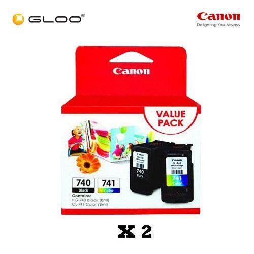 [Set of 2] Canon Fine Value Pack 11 PG-740+CL-741 Ink Cartridges