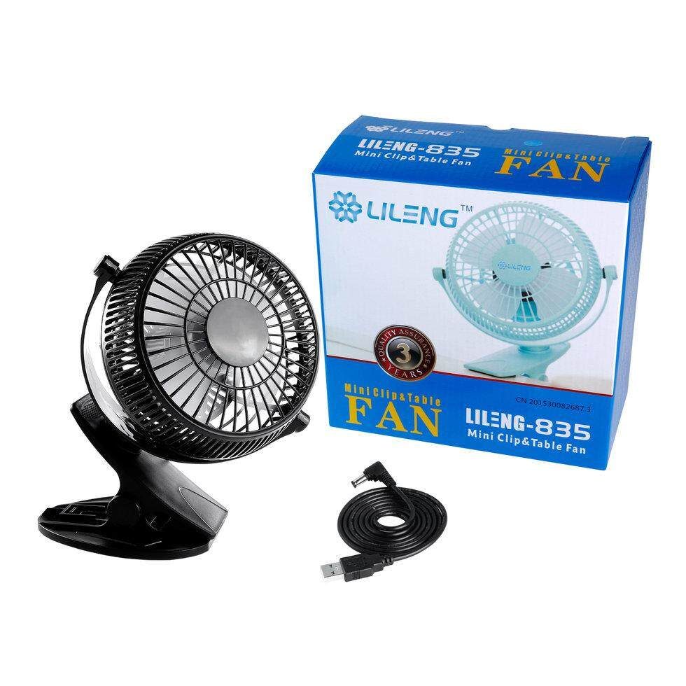 5 inch Portable with Clip USB Desktop Fan for Home Office Baby Stroller Car Laptop Study Table Gym Camping Tent