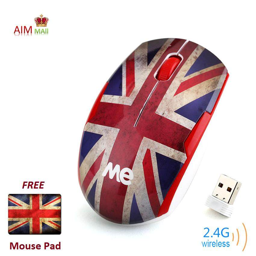 SHARK S6 Ergonomic 2.4G Wireless optical mouse (UK/British Flag) Malaysia