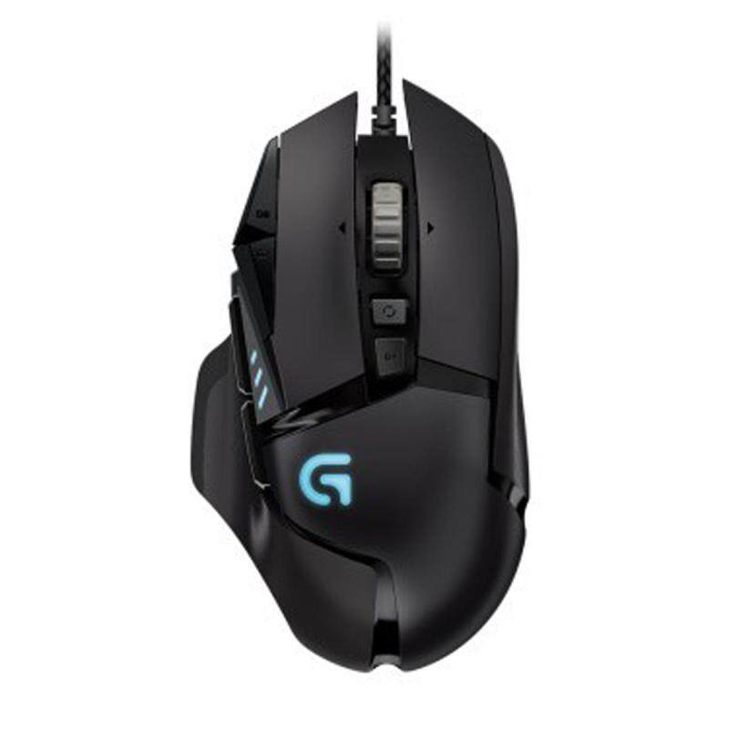 Logitech G502 Professional Gaming Mouse Mice with 11 Programmable Buttons, DPI Adjustment - Black - intl Singapore