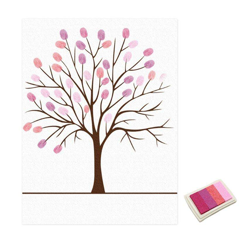 Neve Wedding Guest Book Personalized Love Tree Wedding Gifts Fingerprint Painting